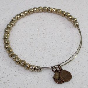 Alex and Ani Silver and Gold Beaded Bracelet